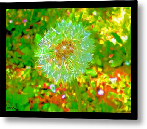 Nature Metal Print featuring the mixed media Series Of Spring Time Paintings by Debra Lynch