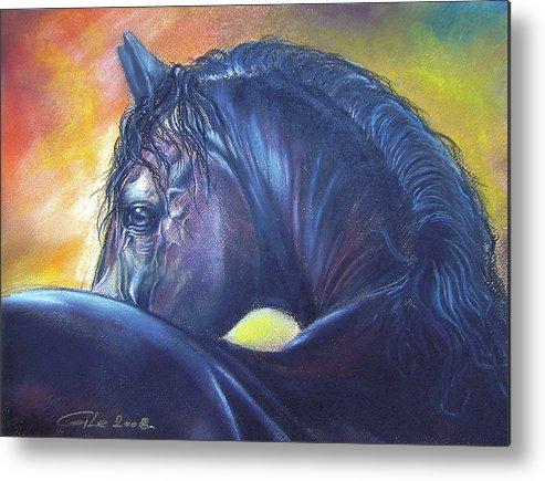 Animal Metal Print featuring the painting Shy by Dragan Gilic