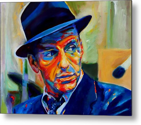 Traditional Pop Metal Print featuring the painting Sinatra by Vel Verrept