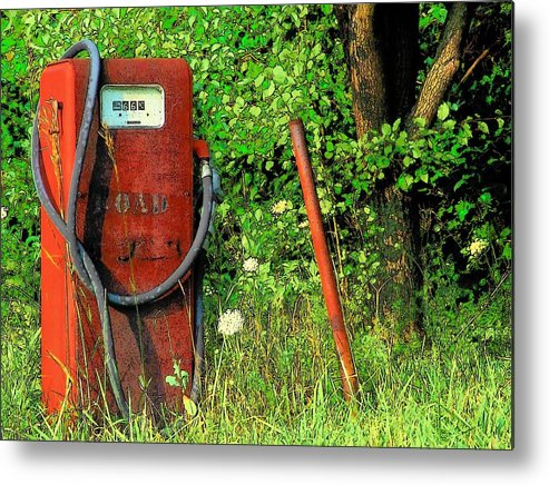 Gas Pump Metal Print featuring the photograph Sixty Six Cents A Gallon by Michael L Kimble
