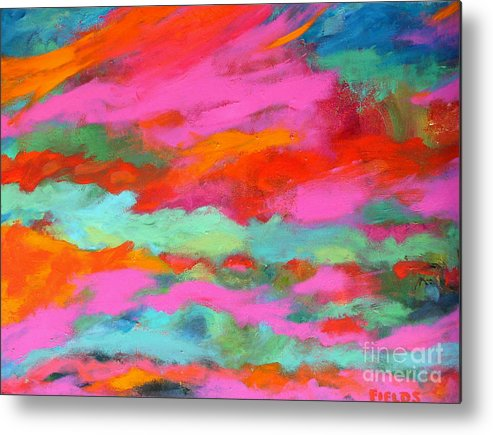 Bold Metal Print featuring the painting Sky Of Determination by Karen Fields