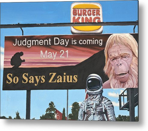 Astronaut Metal Print featuring the painting So Says Zaius by Scott Listfield