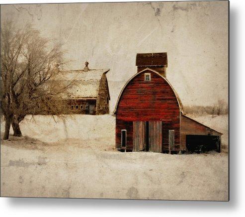 Barn Metal Print featuring the photograph South Dakota Corn Crib by Julie Hamilton