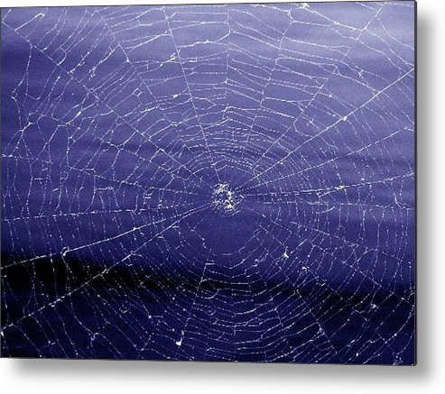 Web Metal Print featuring the digital art Spiderweb by Kenna Westerman