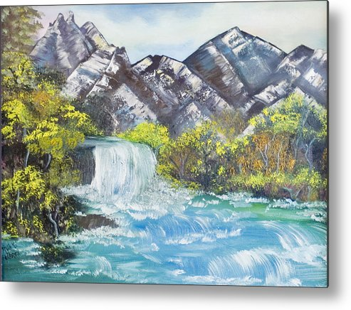 Oil Metal Print featuring the painting Spring Thaw by Mikki Alhart