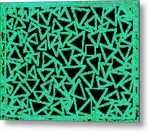 Abstract Metal Print featuring the digital art Square One by Will Borden