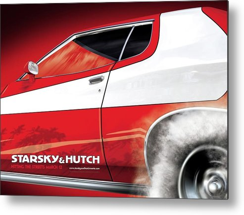 Starsky And Hutch Metal Print featuring the digital art Starsky And Hutch by Dorothy Binder