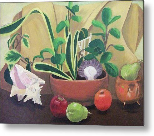 Still Life Metal Print featuring the painting Still Alive by Suzanne Marie Leclair