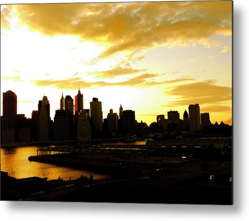 Manhattan Metal Print featuring the photograph Stolen Moments by Kendall Eutemey