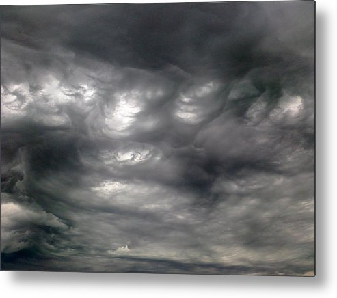 Clouds Metal Print featuring the photograph Stormy by Stephen Doughten