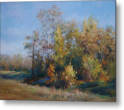 Metal Print featuring the painting Stream By Cisco Campus by Kelvin Lei