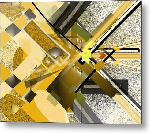 Sunny Metal Print featuring the digital art Sunny City by Jo Baby