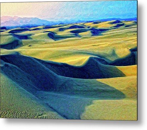 Sunrise At Oceano Sand Dunes Metal Print featuring the painting Sunrise At Oceano Sand Dunes by Dominic Piperata