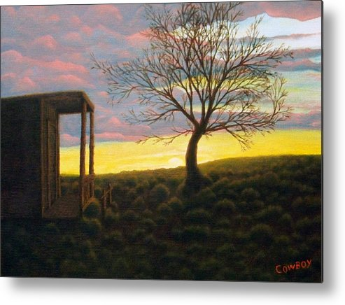 Sunset Metal Print featuring the painting Sunset by Darren Yarborough