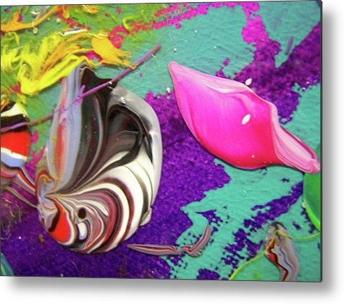 Abstract Metal Print featuring the painting Sweet Tooth2 by Nino B