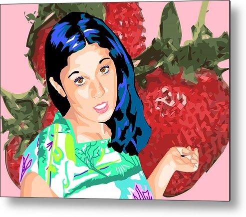 Berries Metal Print featuring the digital art Tasty by Sarah Crumpler