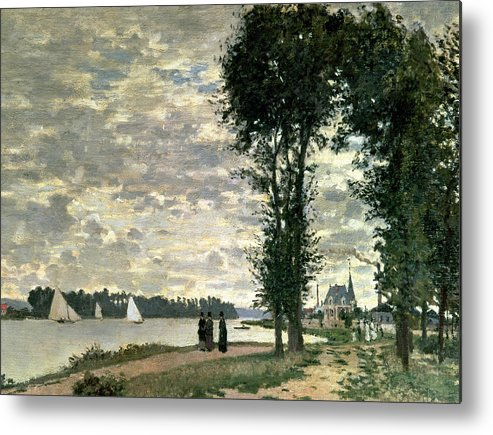 French Metal Print featuring the painting The Banks Of The Seine At Argenteuil by Claude Monet