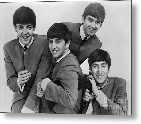 1963 Metal Print featuring the photograph The Beatles, 1963 by Granger