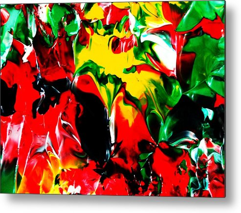 Abstract Conceptual Expressionism Nature Landscape Dance Love Poetry Nature Portrait Figurative Surr Metal Print featuring the painting The Colors Of The Caribbeans by Carmen Doreal