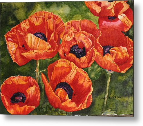 Poppy Metal Print featuring the painting The Dance by Helen Shideler