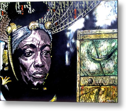 Metal Print featuring the mixed media The Promise Keeper by Chester Elmore