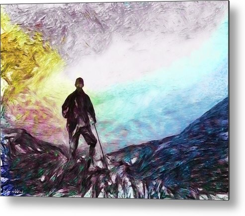 Seeker Metal Print featuring the painting The Seeker by Tyler Robbins