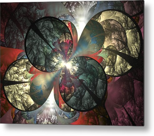Fractal Metal Print featuring the digital art The Soft Touch by Amorina Ashton