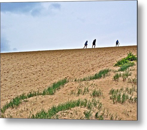 They Are Not At The Top Of This Dune Climb In Sleeping Bear Dunes National Lakeshore Metal Print featuring the photograph They Are Not At The Top Of This Dune Climb In Sleeping Bear Dunes National Lakeshore-michigan by Ruth Hager