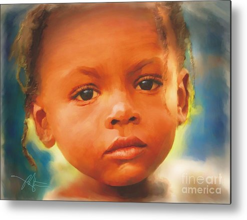 Haiti Metal Print featuring the painting Through My Eyes by Bob Salo