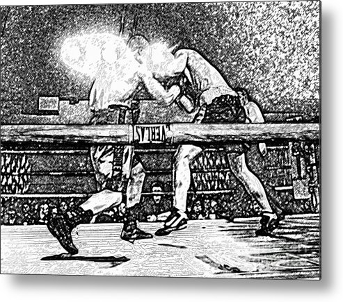 Boxing Metal Print featuring the photograph Titans Of The Ring by David Lee Thompson
