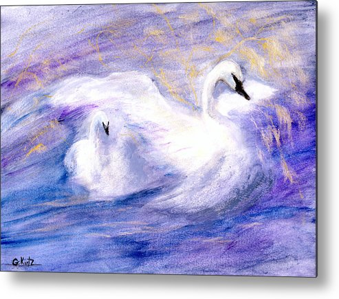 Birds Metal Print featuring the painting Transformation by Gail Kirtz