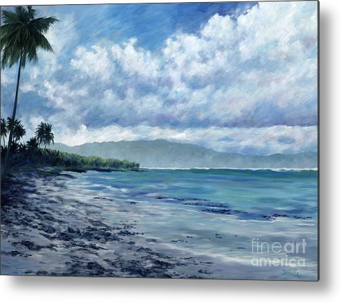 Seascape Metal Print featuring the painting Tropical Rain by Danielle Perry