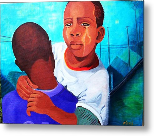 African Art Metal Print featuring the painting True Brotherly Love by Kenji Lauren Tanner