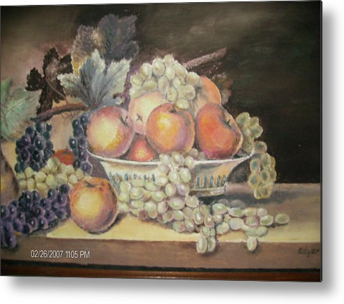 Fruit Metal Print featuring the painting Unknown by Anne-Elizabeth Whiteway