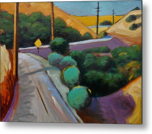 Road Metal Print featuring the painting Up Metcalf by Gary Coleman