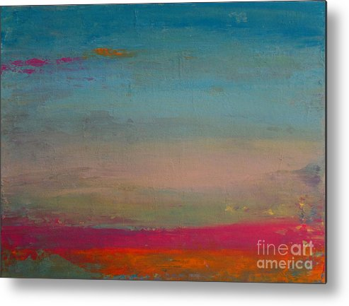 Acrylic Paint Metal Print featuring the painting Up There by Tania Greer
