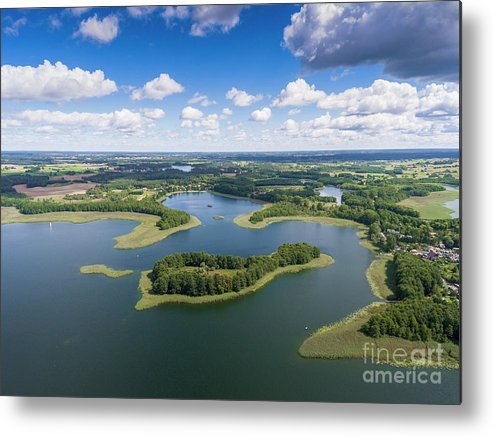 Copter Metal Print featuring the photograph View Of Small Islands On The Lake In Masuria And Podlasie by Mariusz Prusaczyk