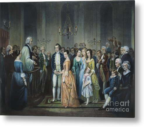 1759 Metal Print featuring the photograph Washingtons Marriage by Granger