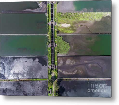 Angle Metal Print featuring the photograph Waste Water Treatment Plant by Mariusz Prusaczyk