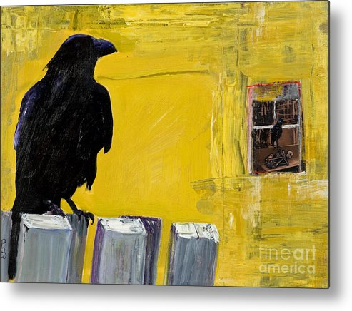 Pat Saunders-white Canvas Prints Metal Print featuring the painting Watching by Pat Saunders-White