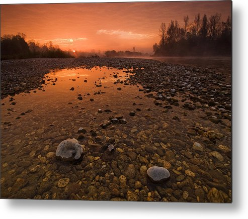 Landscape Metal Print featuring the photograph Water On Mars by Davorin Mance