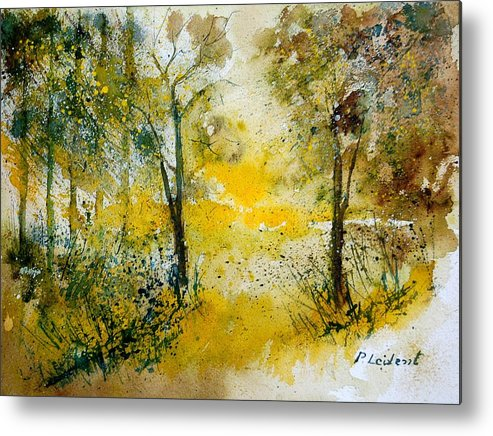 River Metal Print featuring the painting Watercolor 210108 by Pol Ledent