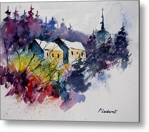 River Metal Print featuring the painting Watercolor 231207 by Pol Ledent