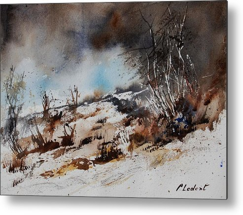 River Metal Print featuring the painting Watercolor Jjook by Pol Ledent