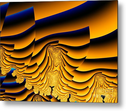 Fractal Image Metal Print featuring the digital art Waves Of Grain by Ron Bissett