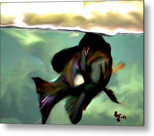 Fish Metal Print featuring the digital art What You Looking At by Crystal Webb