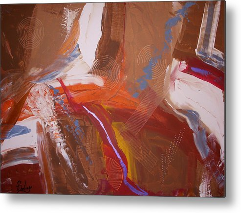 Original Painting Metal Print featuring the painting When The Fall Evolves by Joey Santiago