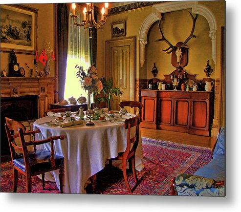 Whitehern Metal Print featuring the photograph Whitehern Dining by Larry Simanzik