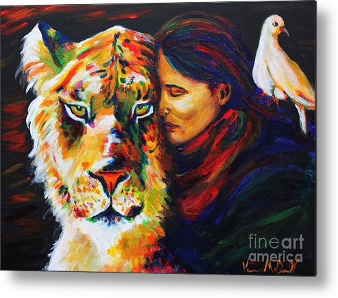 Portrait Metal Print featuring the painting Wife Of Noah by Veronica McDonald