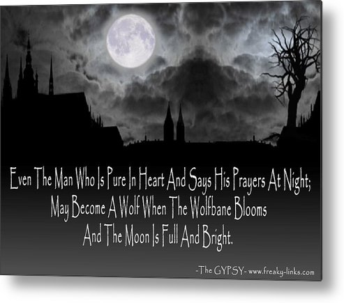 Moon Metal Print featuring the digital art Wolf Moon by The GYPSY